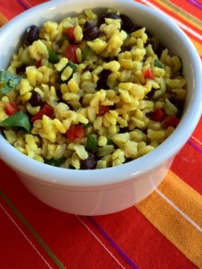 Curried Rice and Beans Salad