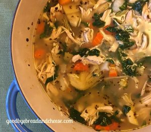 Greek Chicken Soup (gluten/dairy free, paleo, whole 30 approved)